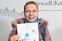 Анна Евтушенко с призовым сертификатом