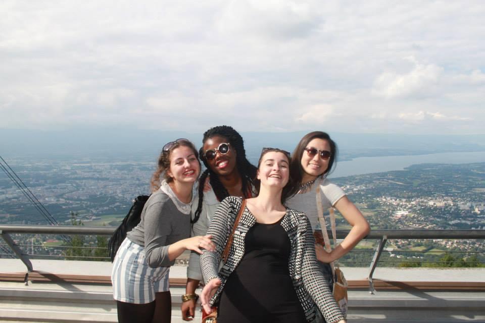 Аня с друзьями из Lancing College